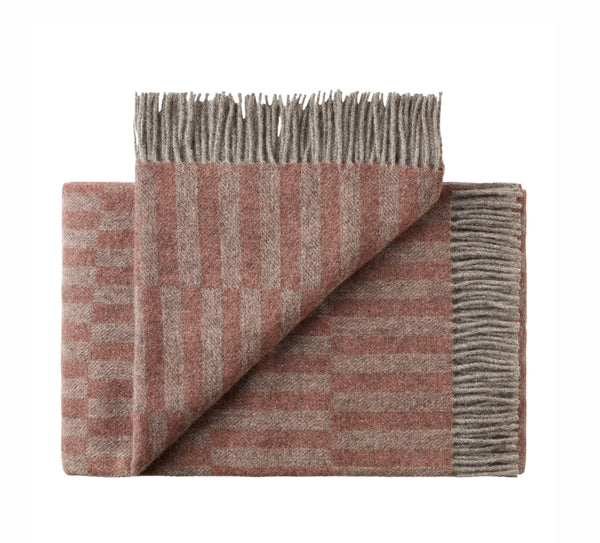 Silkeborg Uldspinderi ApS Stockholm Plaid 130x200 cm Throw 0823 Grey/Rose