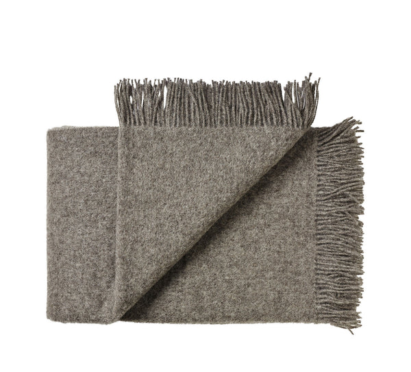 Silkeborg Uldspinderi ApS Samsø Plaid 85x130 cm Throw 0116 Dark Nordic Grey