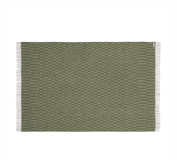 Silkeborg Uldspinderi ApS Stockholm Plaid 130x200 cm Throw 0824 Pebbel Green