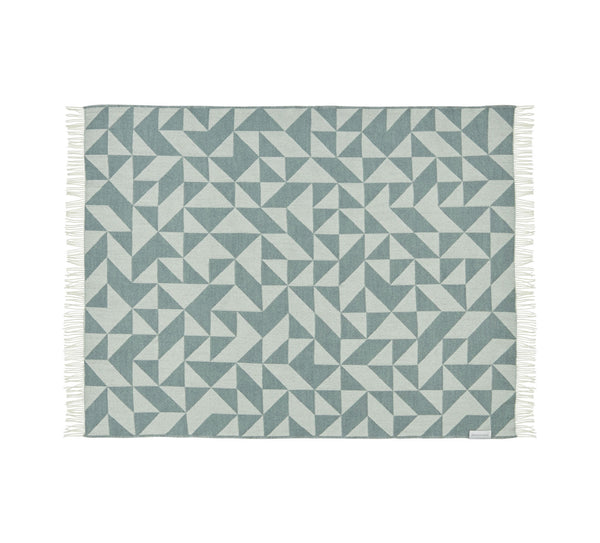 Silkeborg Uldspinderi ApS Twist a Twill Plaid 130x190 cm Throw 1175 Ocean Green