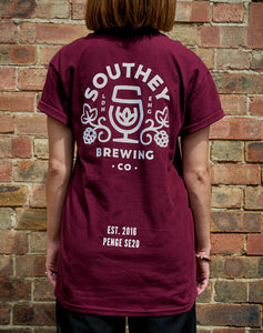 Southey T-Shirt in Burgundy