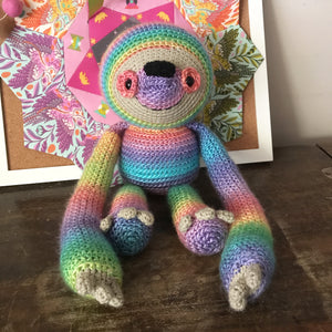 Crochet sloth Rainbow