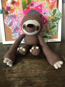 Crochet sloth brown