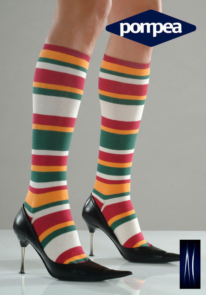 Multi Colour Knee High