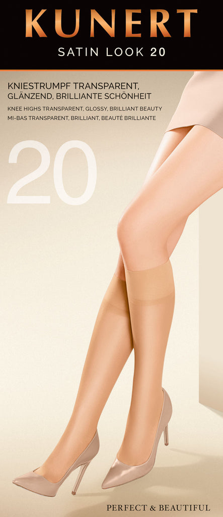 Satin Look 20 Knee Highs