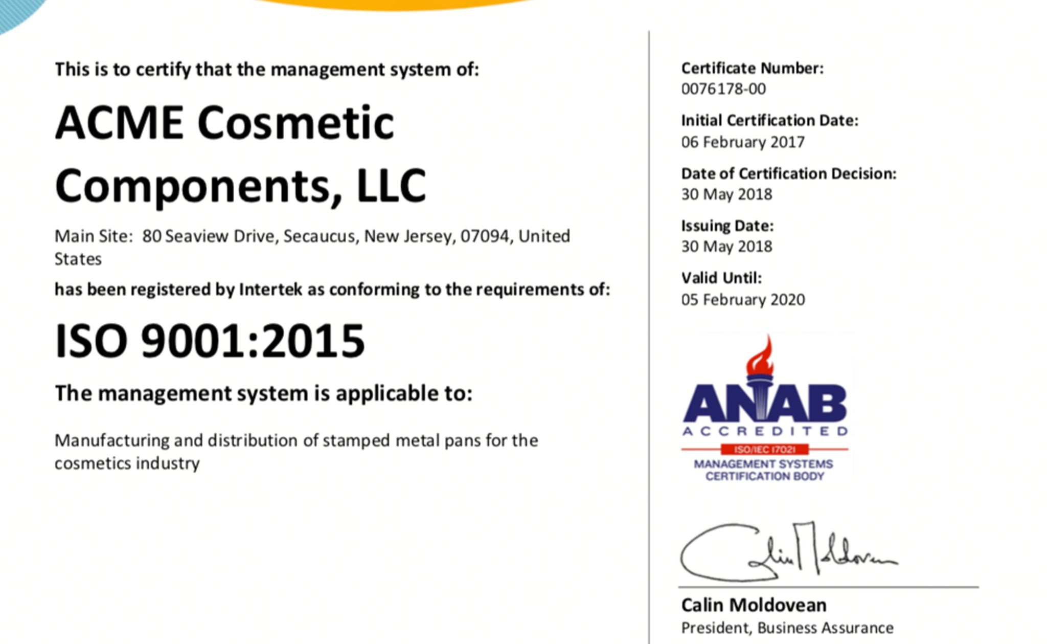 Press Releases - ACME Cosmetic Components