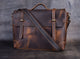 "Everdoss Vintage Full Grain Leather Briefcase 14"" Laptop Bag - YAAGLE.com"