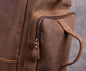 Vintage Muti-funciton Travel Backpack Cross body Leather Bag - YAAGLE.com
