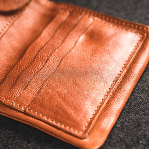 YAAGLE Classical Tanned Leather Purse Card Slots Soft Wallet YG85009 - YAAGLE.com