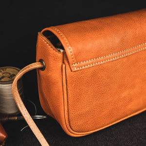 YAAGLE Women Tanned Leather Mini Cross Body Bag YG81680 - YAAGLE.com