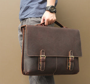 YAAGLE Men's Vintage Real Leather Laptop Business Handbag YG7090 - YAAGLE.com