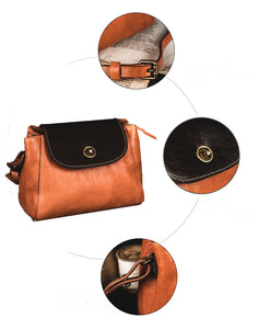 YAAGLE Girls' Contrast Color Cowhide Mini Bag YGM8220 - YAAGLE.com