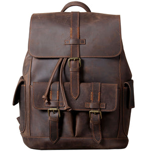 YAAGLE High Quality Genuine Leather Outdoor Backpack YG1112 - YAAGLE.com