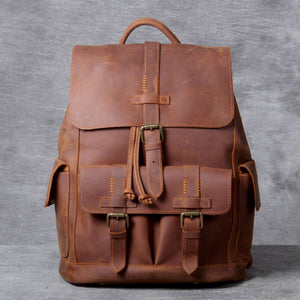 High Quality Genuine Leather Outdoor Backpack YG1112 - YAAGLE.com