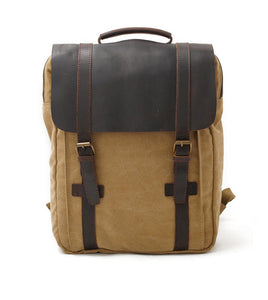 Retro Backpack student leather bag KS6003 - YAAGLE.com