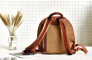 YAAGLE Girls' Casual Genuine Leather Mini Zipper Backpack YG9082 - YAAGLE.com