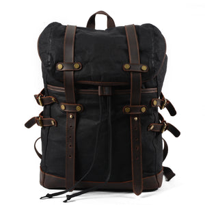 Canvas Men's Bag Casual Backpack Waterproof Outdoor Travel Student Bag KS6008 - YAAGLE.com