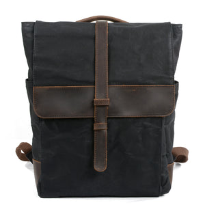 Retro wax canvas men's bag outdoor travel backpack waterproof sports student KS6006 - YAAGLE.com