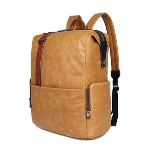 YAAGLE Genuine Leather Unisex Casual Outdoor Travel Backpack YG7260 - YAAGLE.com