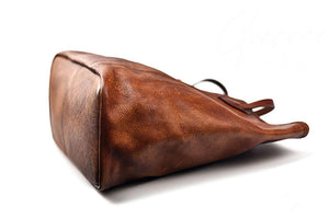 YAAGLE Women Vintage Soft Tanned Leather Handbag Tote YG8556 - YAAGLE.com