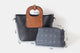 YAAGLE Personalized Women Contrast Color Leather Handbag Set YGA031 - YAAGLE.com