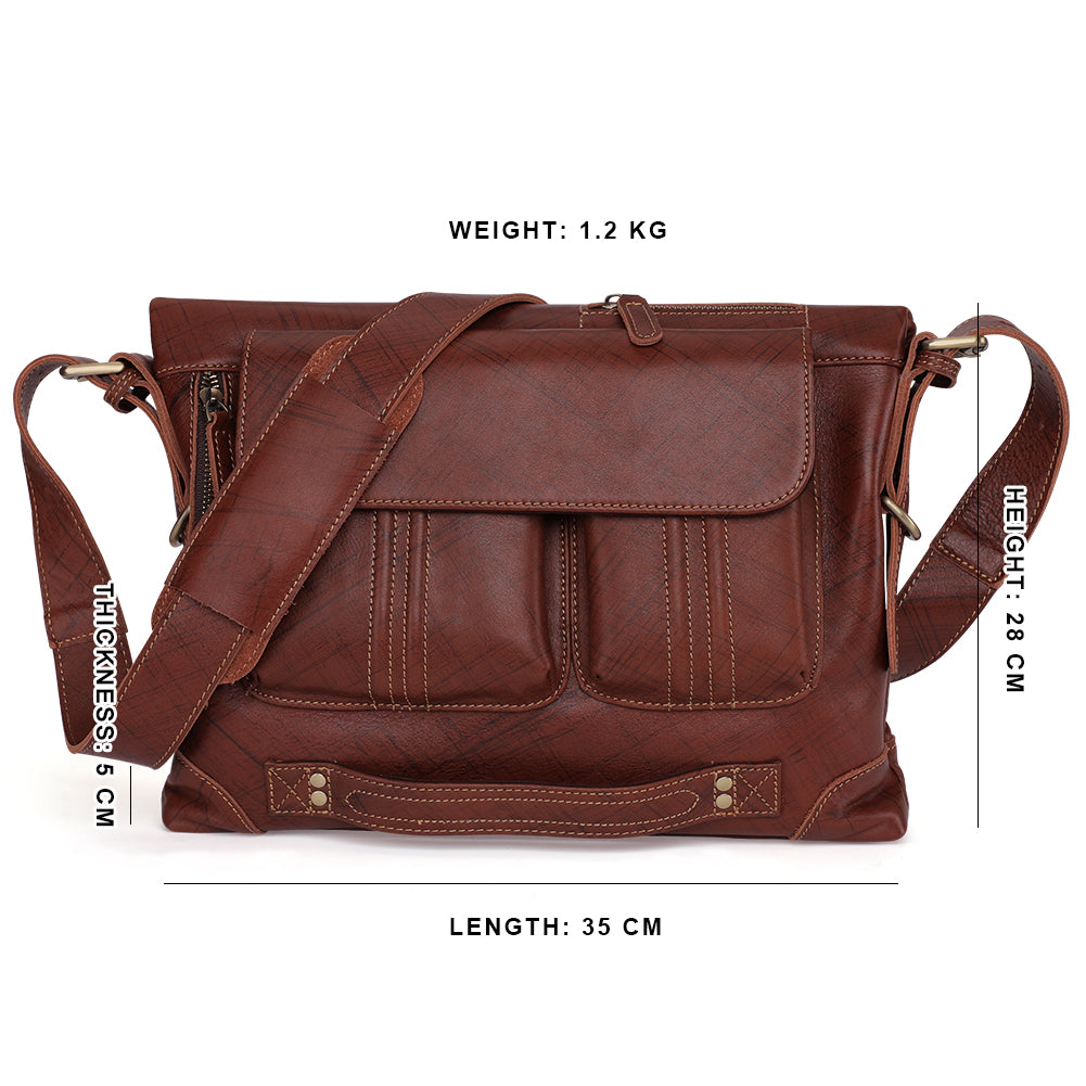 Genuine Leather Vintage Handmade Casual College Day-pack Cross body Messenger Backpack