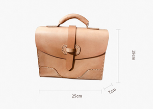YAAGLE Women British Style Genuine Leather Briefcase Handbag YGY073 - YAAGLE.com