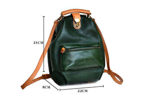 YAAGLE Lady Girls' Personalized Real Leather Sling Backpack YG00306 - YAAGLE.com
