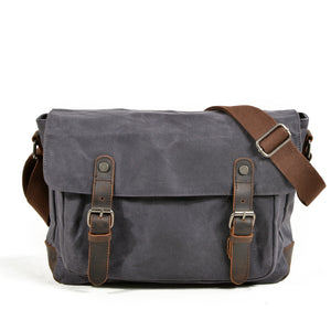 Vintage Style Waxed Canvas Crossbody Messenger Bag #KS7001 - YAAGLE.com