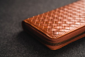 YAAGLE Unisex Knitted Leather Notecase Wallet YG81244 - YAAGLE.com