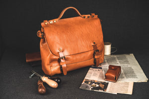 YAAGLE Women All-matching Real Leather Flap Handbag YGM122 - YAAGLE.com