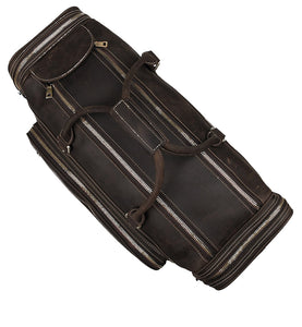 YAAGLE Unisex Genuine Leather Travel Duffel Handbag Tote YG7317LR - YAAGLE.com