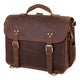 YAAGLE Men's Crazy Horse Leather Business Briefcase Flap Handbag YG7161 - YAAGLE.com