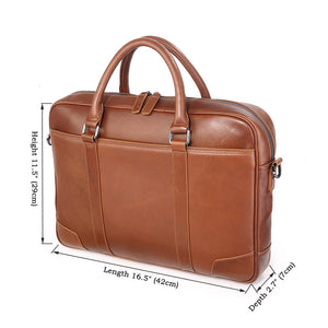 YAAGLE Genuine Leather Computer Messenger Handbag Briefcase YG7349 - YAAGLE.com