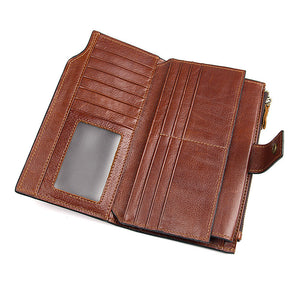 YAAGLE RFID Function Men's Real Leather Business Notecase Clutch YG8103 - YAAGLE.com