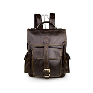 YAAGLE Male Multi-functional Genuine leather travel Backpack Satchel YG7283 - YAAGLE.com