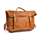 YAAGLE Men's Genuine Leather Leisure Briefcase Flap Handbag YG54 - YAAGLE.com