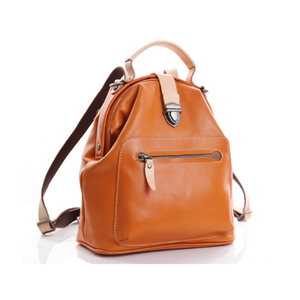 YAAGLE Women Tanned Leather Mini Travel Backpack Tote YGBR6078 - YAAGLE.com