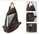 YAAGLE Mens Crazy Horse Leather Sling Chest BackPack USB Charging Sports Crossbody Bag YG5115 - YAAGLE.com