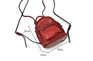 YAAGLE Girls' Multi-Purpose Tanned Leather Mini Backpack YG8190 - YAAGLE.com