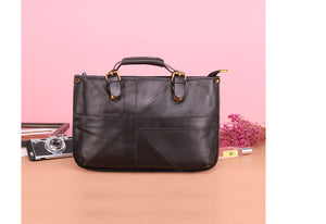 YAAGLE Vintage Tote Genuine Leather Crossbody Bag Busniess Briefcase YG8722 - YAAGLE.com
