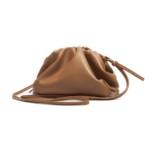 YAAGLE Fashion Female Real Leather Ruffled Drawstring Clutch Bag YG00265 - YAAGLE.com