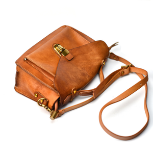 YAAGLE Women British Style Tanned Leather Flap Shoulder Bag Tote YG350 - YAAGLE.com