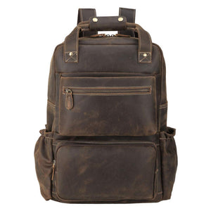 YAAGLE Men's Leather Backpack 15.6 inch Laptop Backpack Large Capacity Business Travel Office Daypacks with YKK Zipper YG8876 - YAAGLE.com