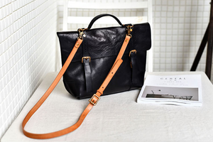 YAAGLE Women Vintage Tanned Leather Messenger Flap Handbag YG297 (big) - YAAGLE.com