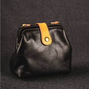 YAAGLE Women Vintage Tanned Leather magnetic button Shoulder Bags YG91 - YAAGLE.com