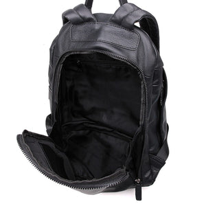 YAAGLE Genuine Leather Leisure Travel Backpack for Men Boys YG2005 - YAAGLE.com
