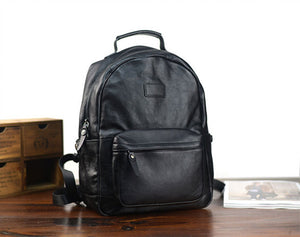 YAAGLE Unisex Large Size Tanned Leather Travel Sling Backpack YG8595 - YAAGLE.com