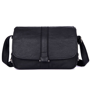 YAAGLE Men's Leisure Litchi Texture Real Leather Messenger Bag YG1030A - YAAGLE.com