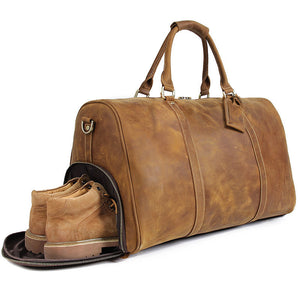 YAAGLE Men's Large Capacity Travel Bucket Handbag Tote YGX7077L - YAAGLE.com